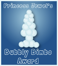 Bubbly Bimbo Award